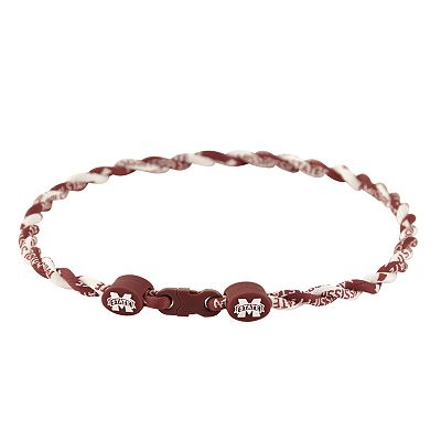 Mississippi State Bulldogs 18-inch Twist Titanium Sport Necklace