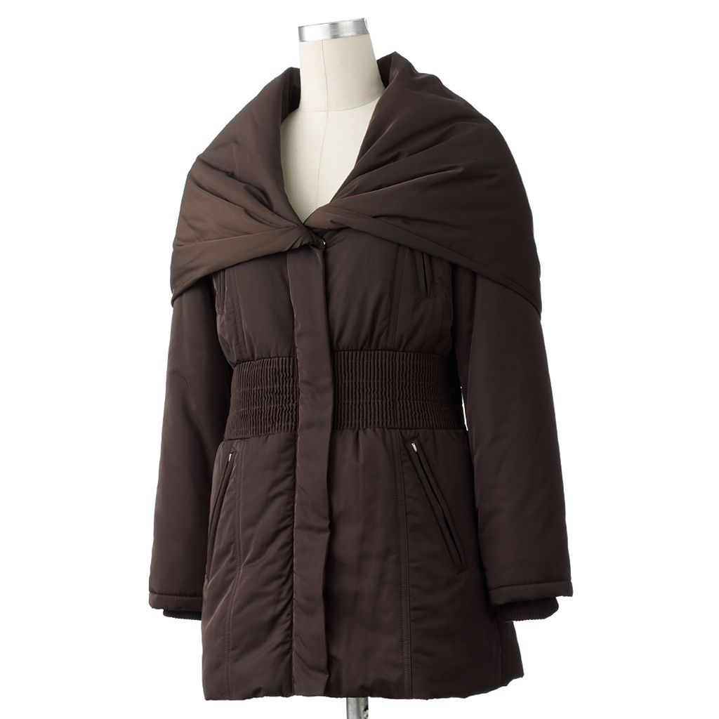 Excelled Smocked Hooded Coat
