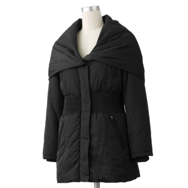 Excelled Smocked Hooded Coat Women,s Plus