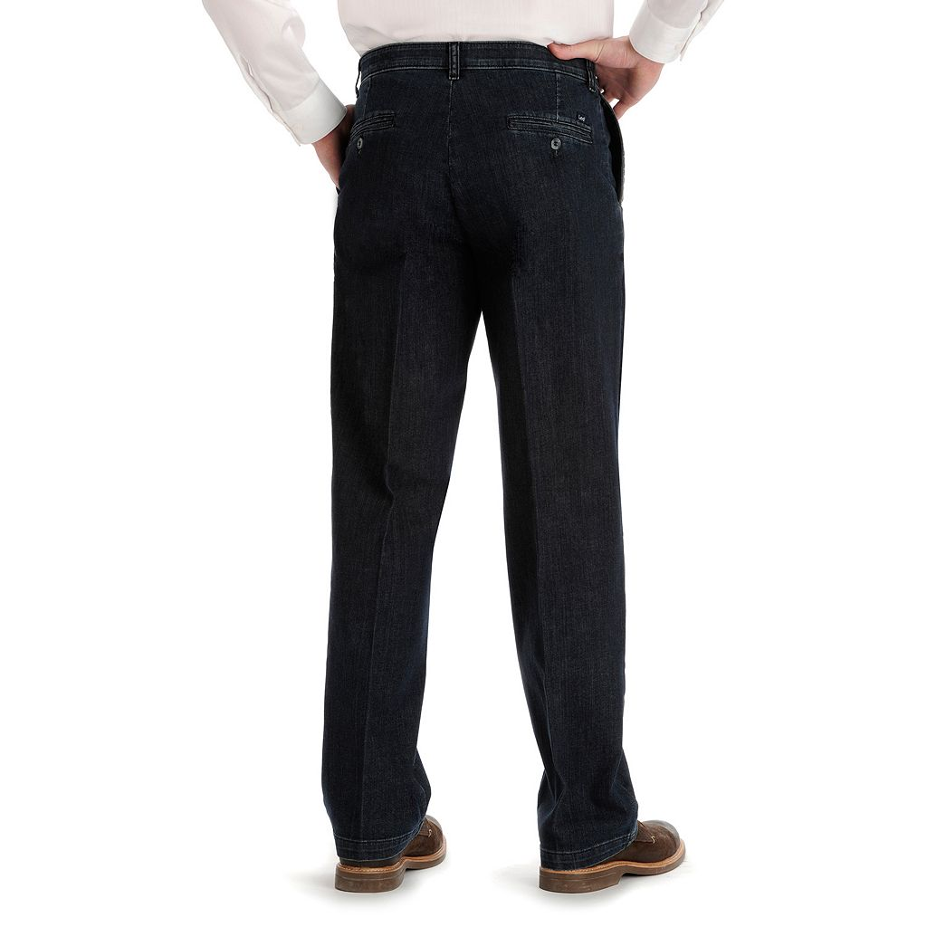 Men's Lee Custom Fit Relaxed-Fit Flat-Front Pants