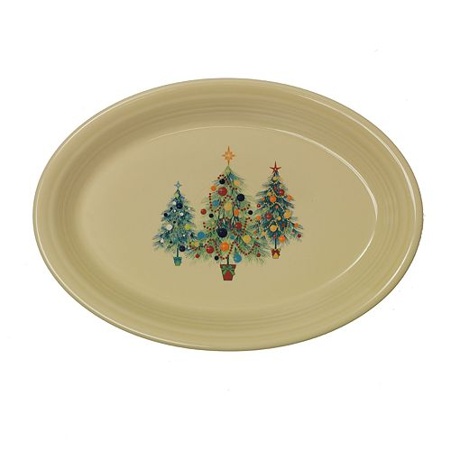 Fiesta Ivory Holiday Trio Platter