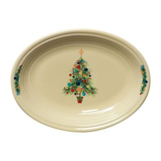 Fiesta Ivory Holiday Oval Vegetable Bowl