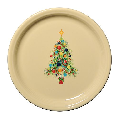 Fiesta Ivory Holiday Buffet Plate