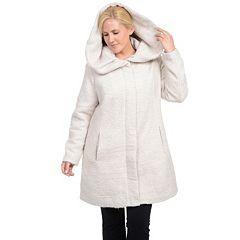 Womens White Wool &amp Wool Blend Coats &amp Jackets - Outerwear