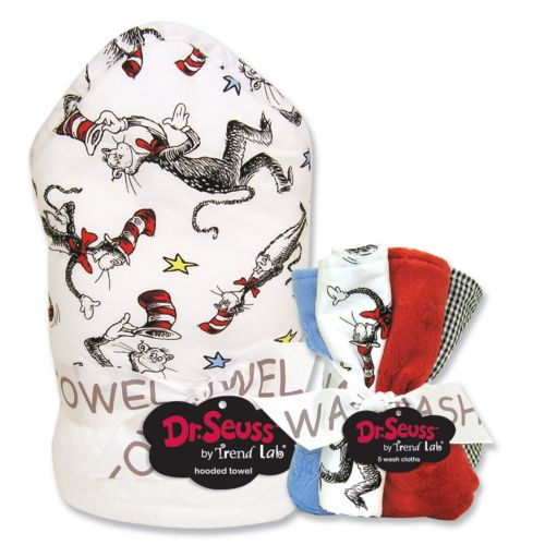 Dr. Seuss The Cat in the Hat 6-pc. Hooded Towel and Washcloth Bouquet Set by Trend Lab