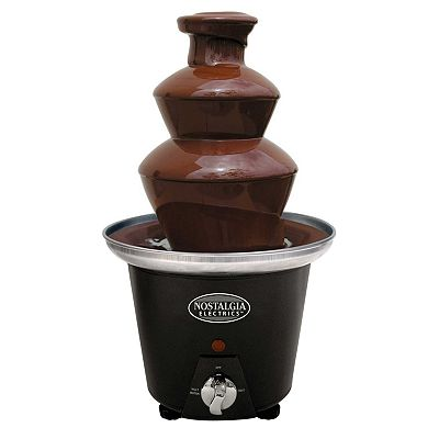 Nostalgia Electrics 2-Tier Mini Chocolate Fondue Fountain