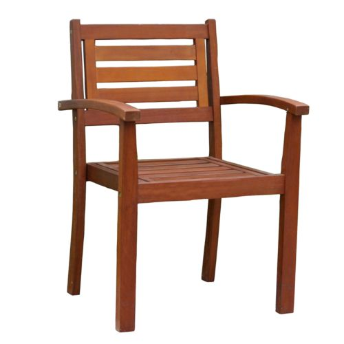 Merry Products Stacking Patio Armchair - Outdoor