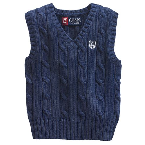 Chaps Cable-Knit Sweater Vest - Baby