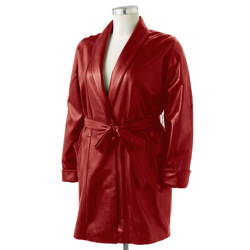 Excelled Leather Coat - Women's Plus (Red)