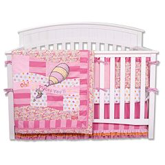 Dr. Seuss 'Oh The Places You'll Go!' 4 pc Crib Bedding Set by Trend Lab - Pink