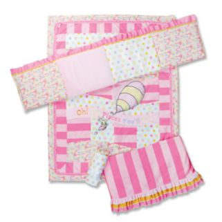 Dr. Seuss Oh The Places You'll Go 4-pc. Crib Bedding Set by Trend Lab - Pink