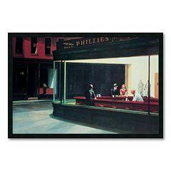'Nighthawks' Framed Art Print by Edward Hopper