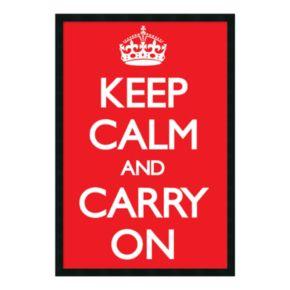 Keep Calm (Red) Framed Poster