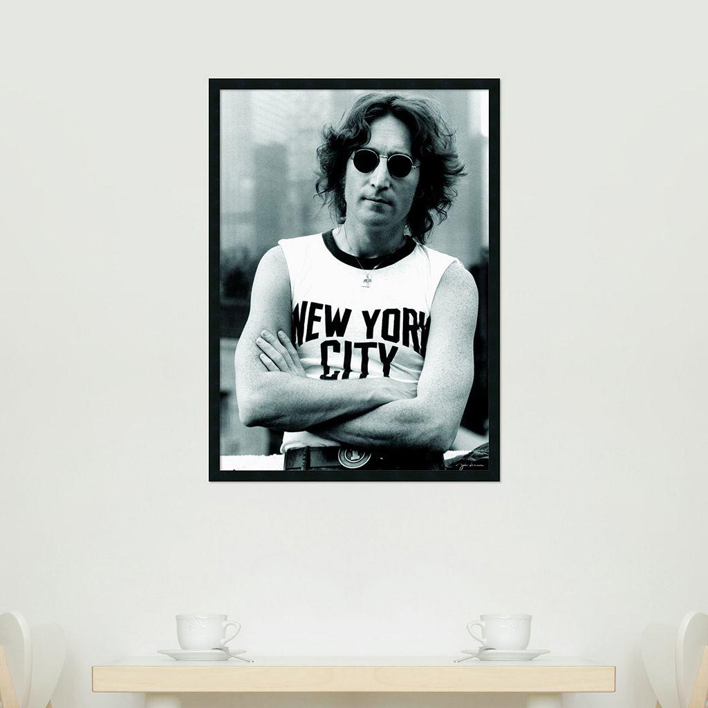 John Lennon - NYC Framed Poster