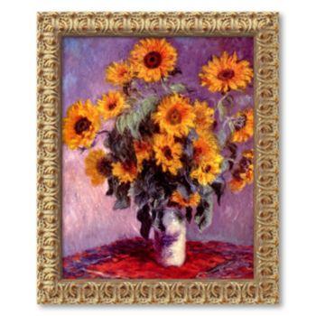 Sunflowers, 1881 Framed Canvas Art by Claude Monet