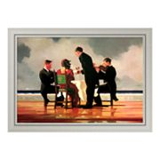 Elegy for the Dead Admiral Framed Canvas Art by Jack Vettriano
