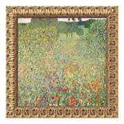 'Field of Poppies (Campo di Papaveri)' Framed Canvas Art by Gustav Klimt