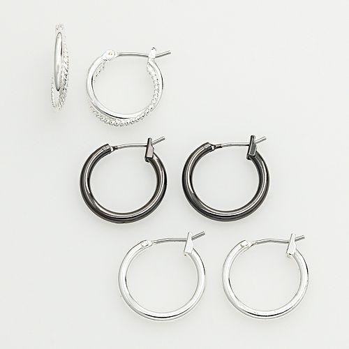 SONOMA Goods for Life® Two Tone Hoop Earring Set