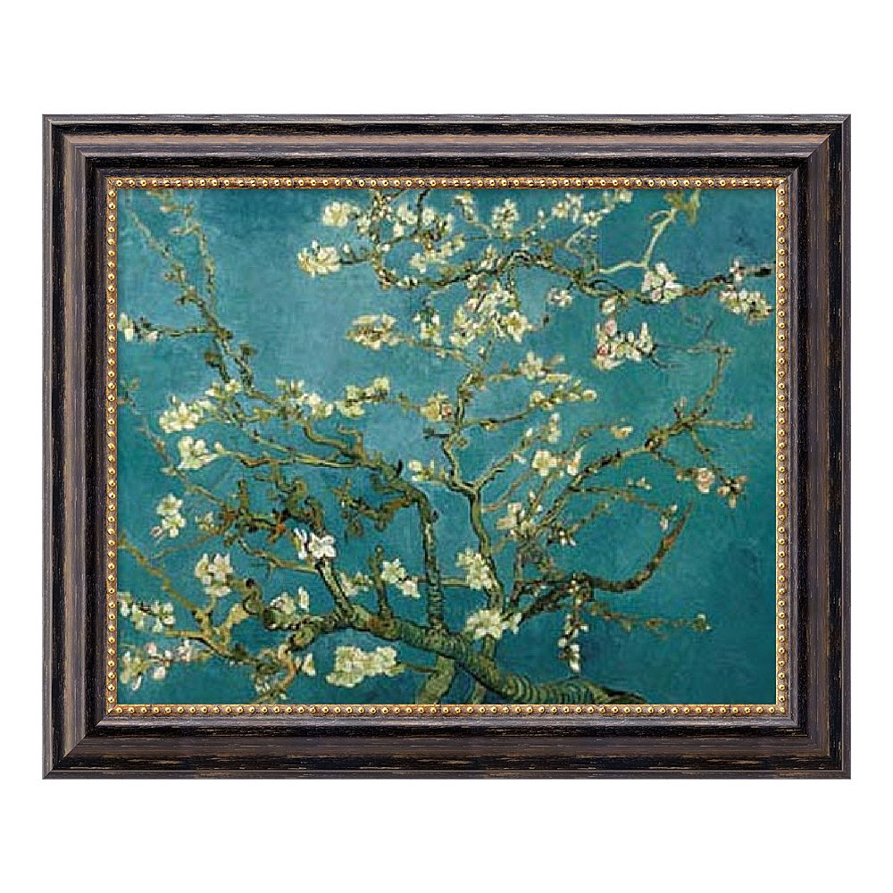 """Almond Blossom, 1890"" Framed Canvas Art by Vincent van Gogh"
