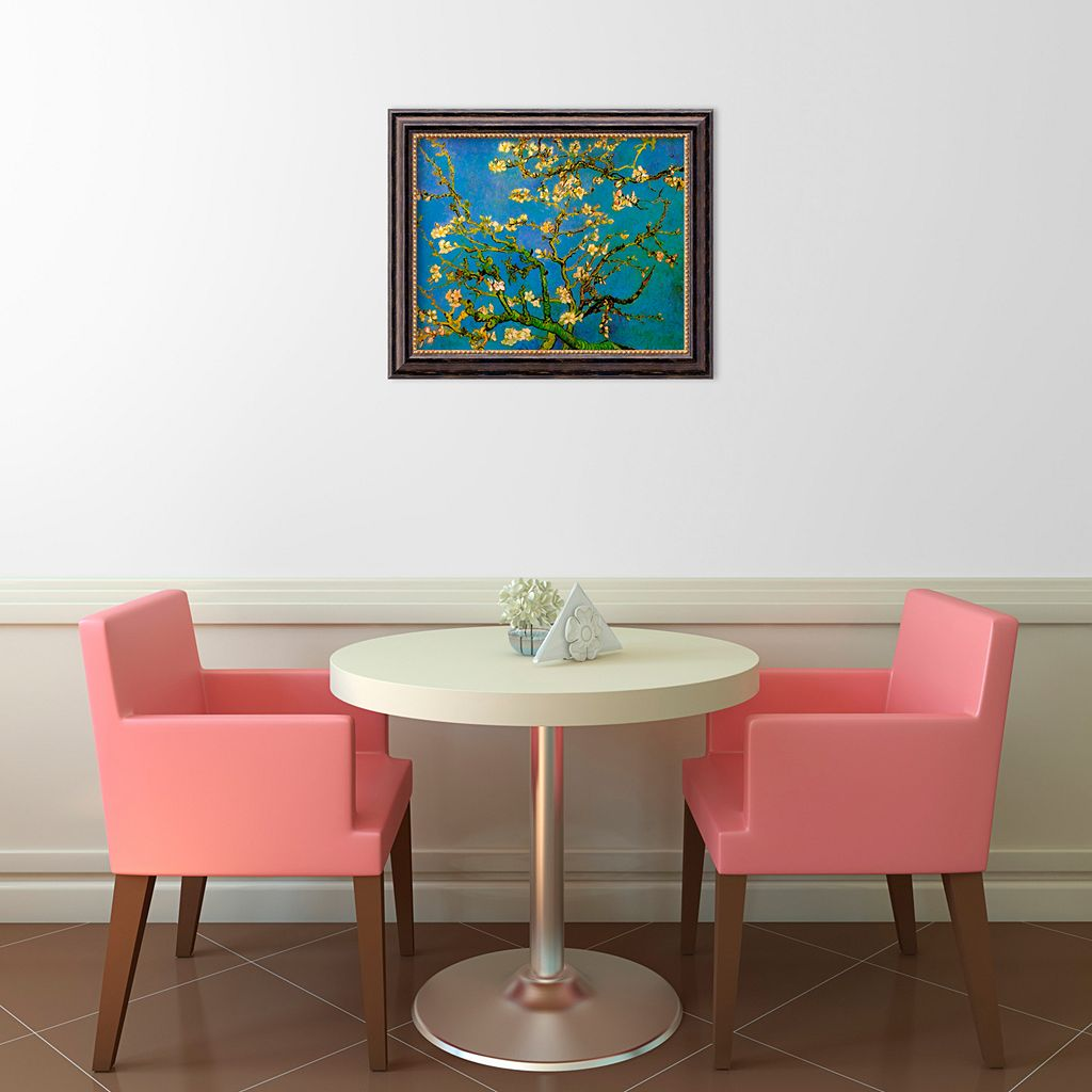 Almond Blossom, 1890 Framed Canvas Art by Vincent van Gogh