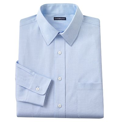Croft and Barrow Fitted Solid Easy-Care Point-Collar Dress Shirt