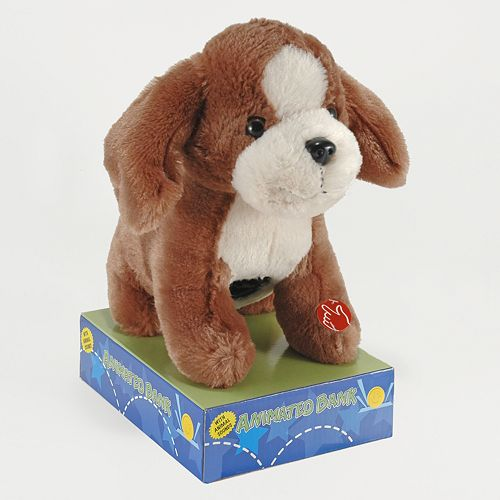 Animated Plush Puppy Bank