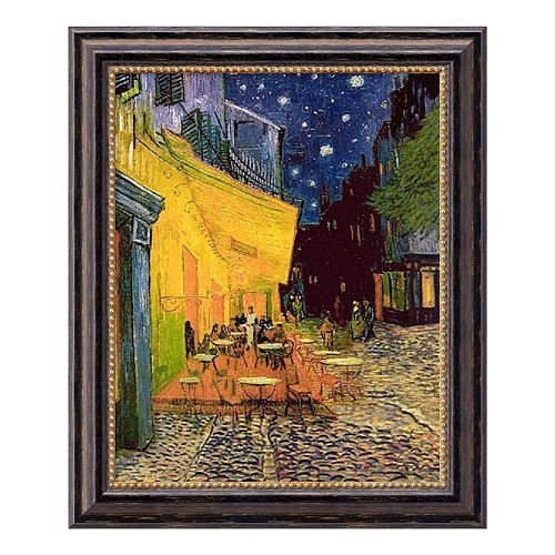 """Cafe Terrace at Night"" Framed Canvas Art by Vincent van Gogh"