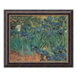 """Les Irises"" Framed Canvas Art by Vincent van Gogh"