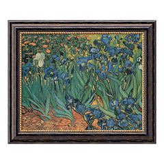 'Les Irises' Framed Canvas Art by Vincent van Gogh