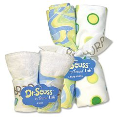 Dr. Seuss 'Oh, The Places You'll Go!' 8 pc Bib & Burp Cloth Set by Trend Lab - Blue