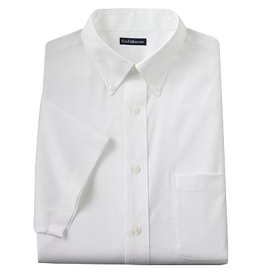 Croft and Barrow Classic-Fit Solid Easy-Care Button-Down Collar Dress Shirt