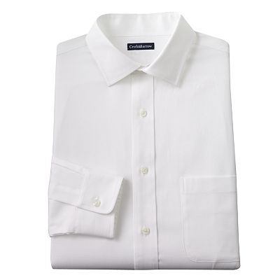 Croft and Barrow Slim-Fit Solid Spread-Collar Dress Shirt