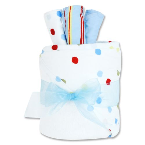 Dr. Seuss One Fish, Two Fish Hooded Towel and Washcloth Gift Cake Set