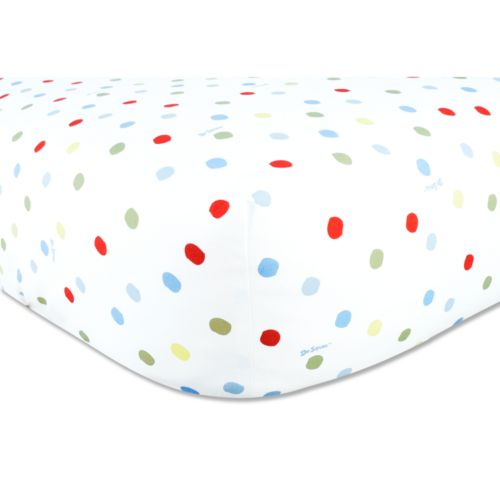 Dr. Seuss One Fish, Two Fish Fitted Crib Sheet by Trend Lab