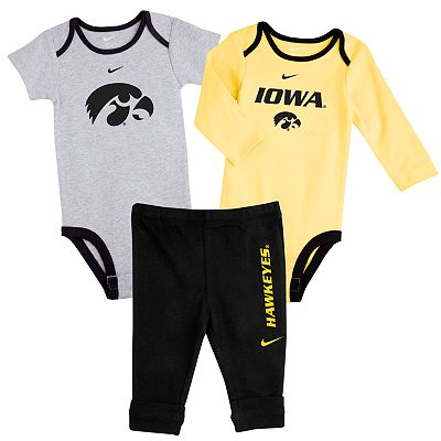 Nike Iowa Hawkeyes Bodysuit Set - Newborn