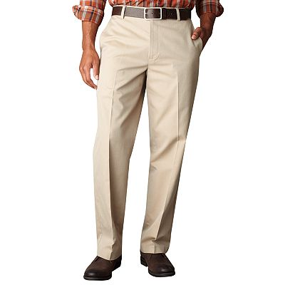 Dockers Iron-Free Straight-Fit Patterned Flat-Front Pants