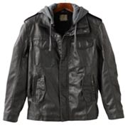 R and O Faux-Leather Jacket - Men