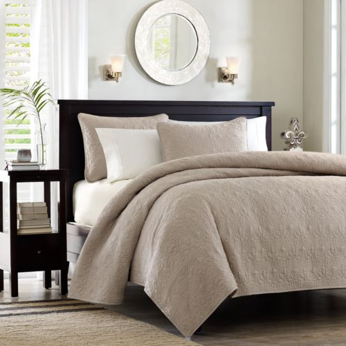 Madison Park Mansfield 3-pc. Quilted Coverlet Set - King