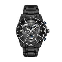 Citizen Eco-Drive Perpetual Chrono A-T Stainless Steel Black Ion Watch - AT4007-54E