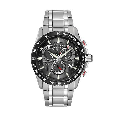 Citizen Eco-Drive Perpetual Chrono A-T Stainless Steel Watch - AT4008-51E - Men