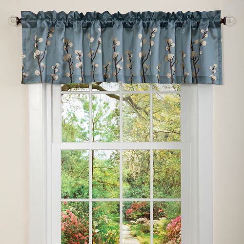 Lush Decor Cocoa Flower Window Valance - 15'' x 84''