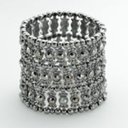 Dana Buchman Jet Simulated Crystal Stretch Bracelet
