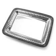 Wilton Armetale Flutes and Pearls Rectangular Tray