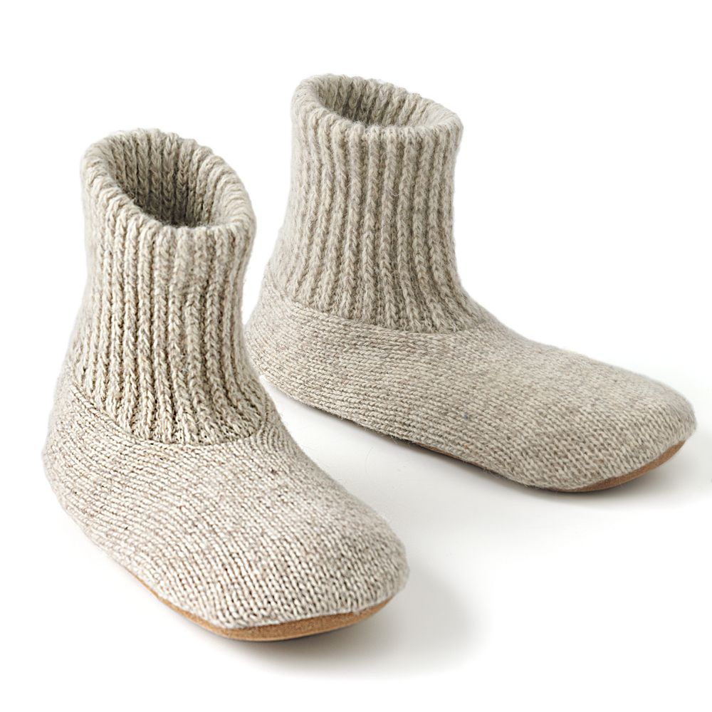 Muk Luks Mens Nordic Knit Bootie Slipper Socks