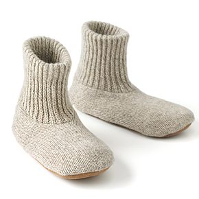 MUK LUKS Men's Nordic Knit Bootie Slipper Socks