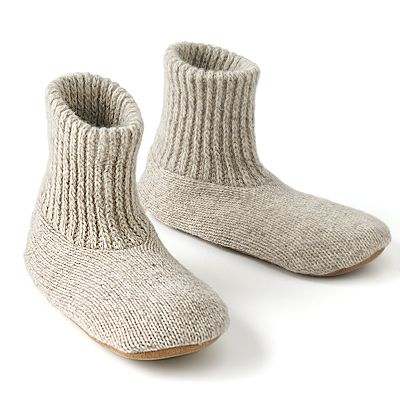 MUK LUKS Nordic Knit Bootie Slipper Socks - Men