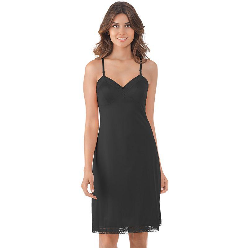 Vanity Fair Rosette Lace-Trim Full Slip 22-in. 10103 - Women's