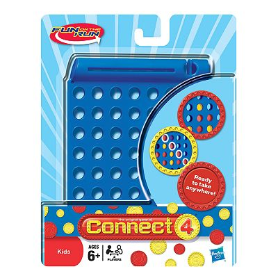 Hasbro Fun on the Run Connect 4 Travel Game