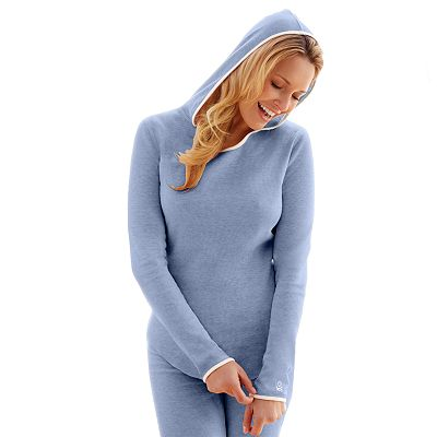 Cuddl Duds Mock-Layer Thermal Hoodie