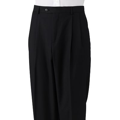Croft and Barrow Classic-Fit Solid Pleated Suit Pants
